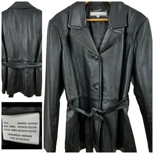 Wilsons 100% Genuine Leather Jacket with Belt XL